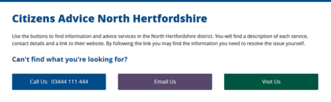 Citizens Advice - Contact