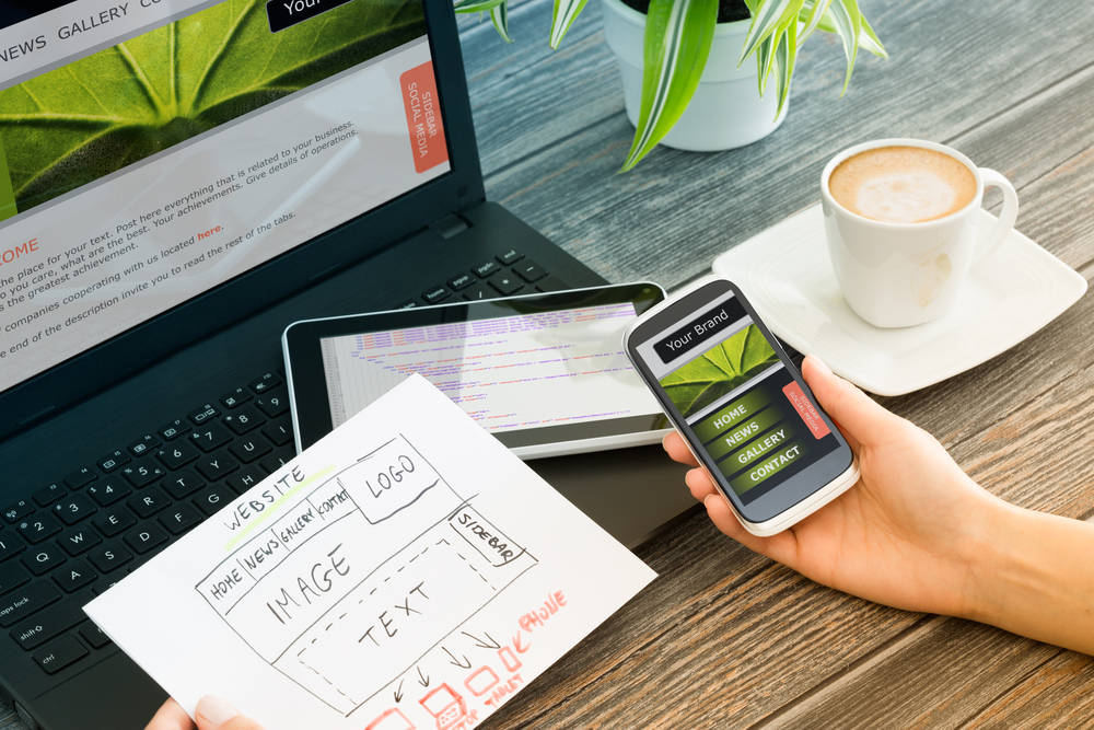 mobile showing responsive web design