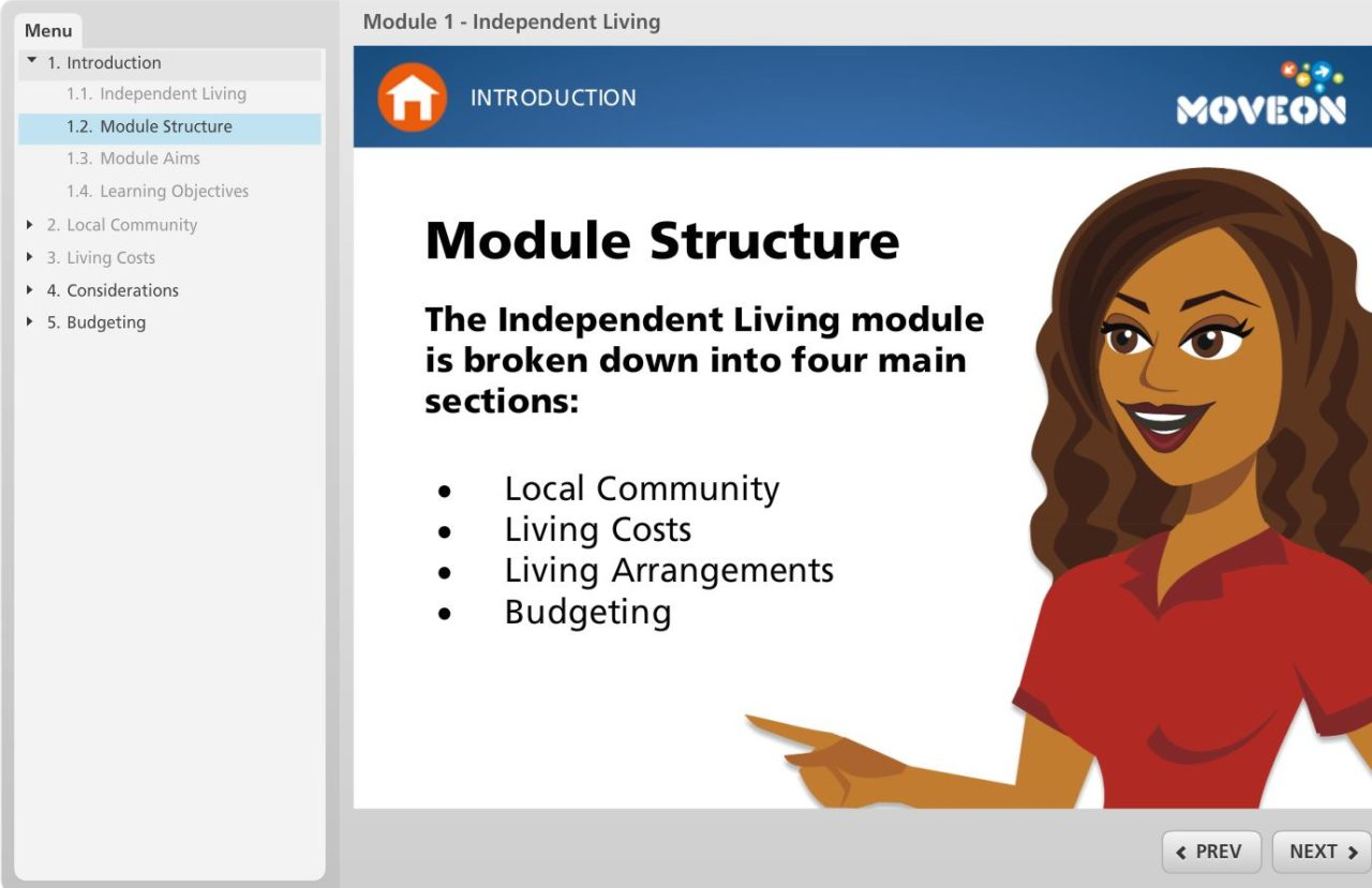 MoveOn introduction screen ESP Projects