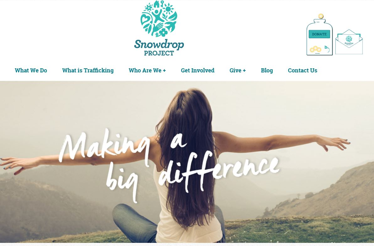 Snowdrop charity branding ESP Projects