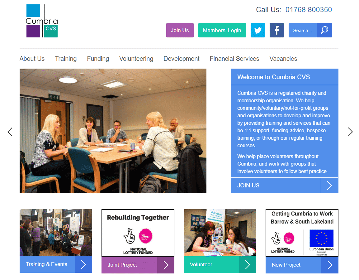 Cumbria CSV Charity Web Design Project