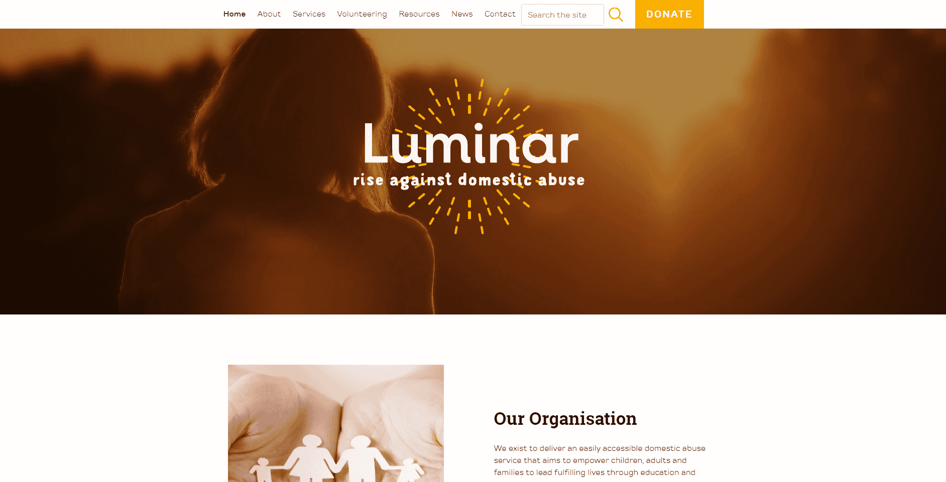 Luminar charity branding ESP Projects